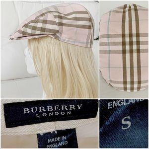 Authentic Burberry women's hat nova check pink S